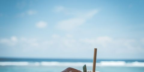 Vacation, Sky, Hand, Summer, Beach, Water, Ocean, Finger, Sea, Drink,