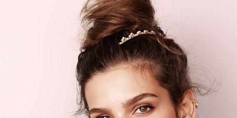Ear, Lip, Hairstyle, Skin, Chin, Forehead, Eyebrow, Eyelash, Fashion accessory, Style,