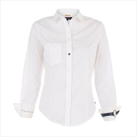 Clothing, Product, Dress shirt, Collar, Sleeve, Textile, White, Pattern, Fashion, Button,