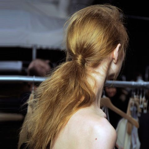 Ear, Hairstyle, Style, Earrings, Back, Blond, Long hair, Brown hair, Hair coloring, Personal grooming,