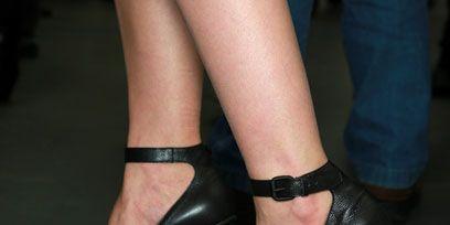 Footwear, High heels, Joint, Human leg, Sandal, Fashion, Black, Basic pump, Foot, Leather,