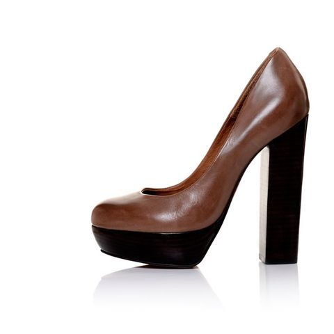 Brown, High heels, Tan, Liver, Maroon, Beige, Leather, Basic pump, Close-up, Court shoe,