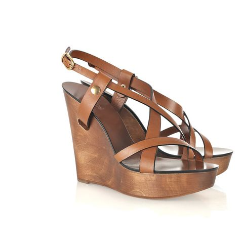 Brown, Product, Tan, Strap, Khaki, Sandal, Leather, Fawn, Beige, Wedge,