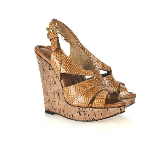 Brown, Sandal, Khaki, Tan, High heels, Fawn, Beige, Wedge, Foot, Slingback,