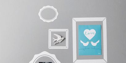 Wall, Teal, Turquoise, Aqua, Grey, Design, Paint, Picture frame, Visual arts, Collection,