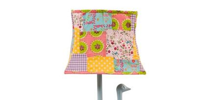 Product, Lampshade, Lamp, Pattern, Teal, Aqua, Magenta, Turquoise, Lighting accessory, Creative arts,