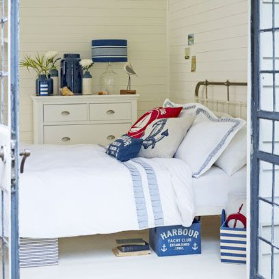 Blue, Room, Bedding, Textile, Interior design, Chest of drawers, Home, Wall, Linens, Furniture,
