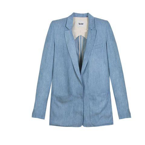 Clothing, Blue, Coat, Product, Collar, Sleeve, Textile, Outerwear, Blazer, Fashion,