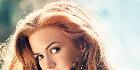 Lip, Earrings, Hairstyle, Shoulder, Eyebrow, Eyelash, Jewellery, Style, Jaw, Beauty,