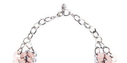 Jewellery, White, Fashion accessory, Natural material, Fashion, Body jewelry, Craft, Creative arts, Jewelry making, Silver,