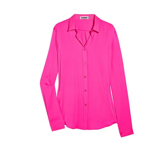 Product, Collar, Sleeve, Textile, Magenta, Red, Outerwear, White, Pink, Coat,