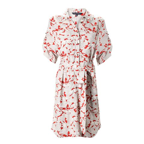 Product, Sleeve, Collar, Textile, Pattern, White, Day dress, Pattern, Peach, Fashion design,