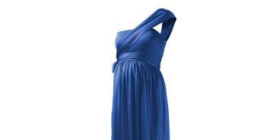 Blue, Dress, Standing, One-piece garment, Formal wear, Electric blue, Aqua, Teal, Cobalt blue, Azure,