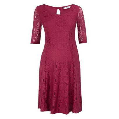 Sleeve, Dress, Textile, Red, Magenta, One-piece garment, Pattern, Maroon, Carmine, Fashion,