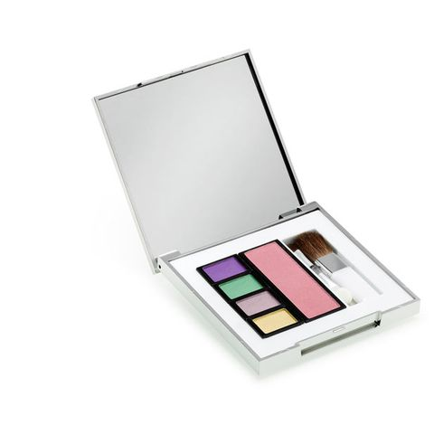 Eye shadow, Lavender, Purple, Violet, Tints and shades, Cosmetics, Magenta, Teal, Rectangle, Silver,