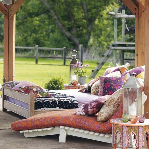 Furniture, Room, Bed, studio couch, Interior design, Home, Couch, Architecture, Patio, Plant,