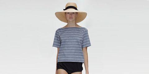 Clothing, Leg, Hat, Sleeve, Skin, Human body, Shoulder, Human leg, Shirt, Joint,