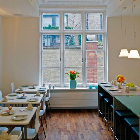 Room, Interior design, Furniture, Table, Glass, Interior design, Ceiling, Dishware, House, Home,