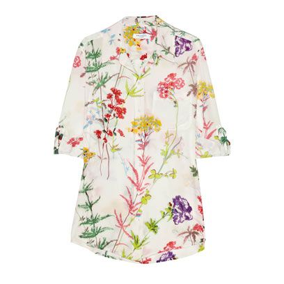 Product, Sleeve, Collar, Textile, Pattern, Dress shirt, Floral design, Creative arts, Button, Pattern,