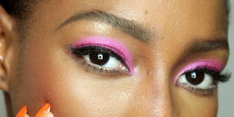 Finger, Lip, Cheek, Brown, Skin, Forehead, Eyebrow, Eyelash, Eye shadow, Style,