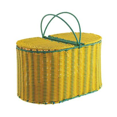 Basket, Teal, Wicker, Home accessories, Turquoise, Rectangle, Storage basket, Fiber, Webbing,