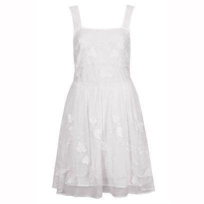 Product, Dress, Textile, White, One-piece garment, Pattern, Style, Formal wear, Day dress, Fashion,