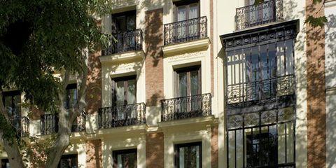 Facade, Property, Architecture, Building, Door, Apartment, Fixture, Material property, Balcony, Concrete,