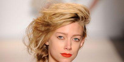 Clothing, Lip, Hairstyle, Chin, Shoulder, Eyebrow, Eyelash, Style, Fashion model, Beauty,