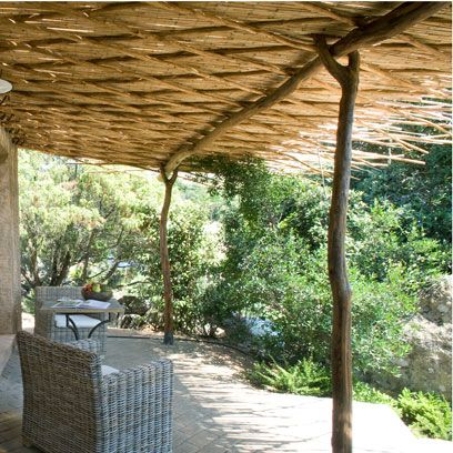 Shade, Beam, Pergola, Outdoor table, Outdoor structure, Wicker, Outdoor furniture, Resort, Gazebo, Thatching,