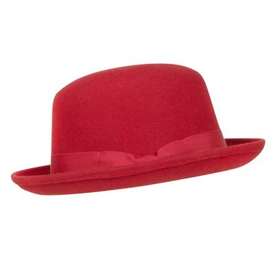 Hat, Red, Headgear, Costume accessory, Carmine, Maroon, Costume hat, Beige, Fedora, Sun hat,