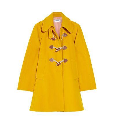 Clothing, Yellow, Collar, Sleeve, Orange, Uniform, Coat, Electric blue, Fashion, Blazer,