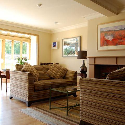 Wood, Floor, Room, Interior design, Hardwood, Brown, Flooring, Home, Furniture, Living room,
