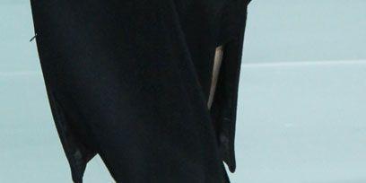 Joint, Human leg, Dress, Fashion, Black, One-piece garment, Street fashion, Ankle, Calf, Day dress,