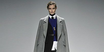 Clothing, Coat, Collar, Sleeve, Joint, Standing, Outerwear, Fashion show, Style, Formal wear,