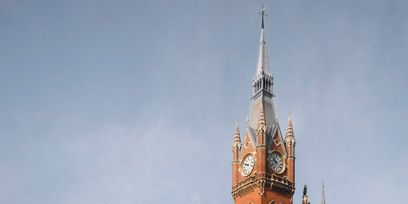 Clock tower, City, Town, Public space, Landmark, Spire, Thoroughfare, Steeple, Mixed-use, Tower,