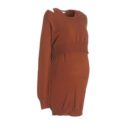 Brown, Sleeve, Amber, Orange, Dress, Pattern, Tan, One-piece garment, Day dress, Back,