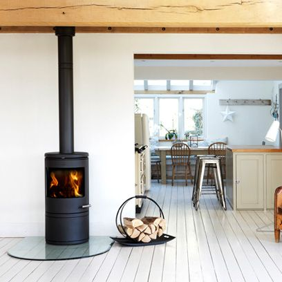 Wood, Room, Floor, Hardwood, Interior design, Ceiling, Heat, Chair, Wood-burning stove, Wood flooring,