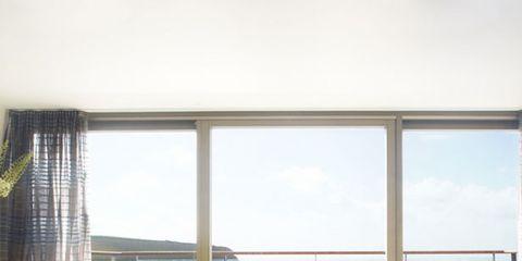 Interior design, Room, Glass, Fixture, Interior design, Daylighting, Window treatment, Window covering, Armrest, Apartment,