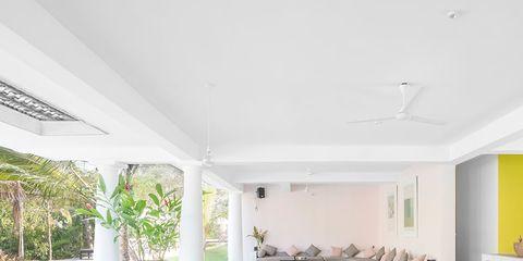 Property, Floor, Room, Interior design, Ceiling, Real estate, Flooring, Tile, Interior design, Turquoise,