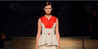 Clothing, Shoulder, Fashion show, Joint, Waist, Style, Fashion model, Flooring, Fashion, Beauty,