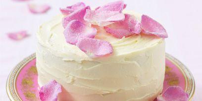 Food, Pink, Buttercream, Dessert, Icing, Cuisine, Cake, Petal, Dish, Cream,