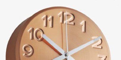 Brown, Line, Amber, Font, Peach, Tan, Clock, Orange, Wall clock, Home accessories,