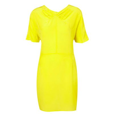 Yellow, Sleeve, Textile, Pattern, Neck, One-piece garment, Pattern, Active shirt, Fashion design, Day dress,