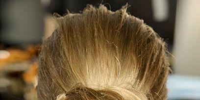 Hairstyle, Style, Hair accessory, Fashion, Earrings, Blond, Long hair, Brown hair, Braid, Hair coloring,