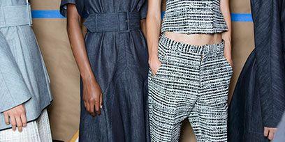 Clothing, Footwear, Blue, Textile, Joint, Pattern, Style, Fashion, Black, Street fashion,