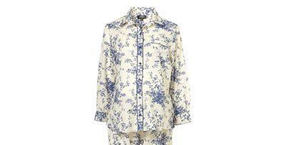 Sleeve, Textile, Pattern, Electric blue, Visual arts, Costume design, Pattern, Fashion design, Nightwear, Pajamas,