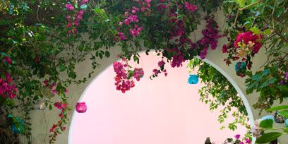 Furniture, Flower, Table, Pink, Petal, Magenta, Purple, Turquoise, Teal, Arch,