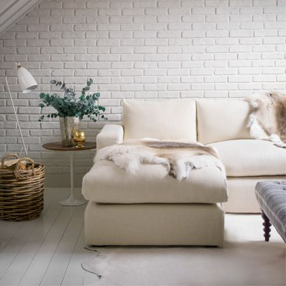 & All White Living Rooms: Decorating Ideas