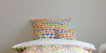 Blue, Product, Bedding, Textile, Room, Interior design, Linens, Bedroom, Bed sheet, Pattern,
