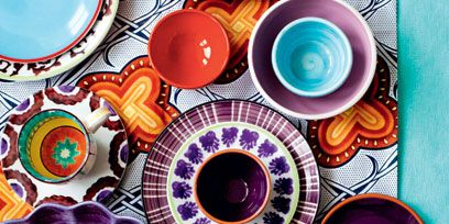Orange, Circle, Plate, Design, Pattern, Textile, Visual arts, Tableware, Dishware,